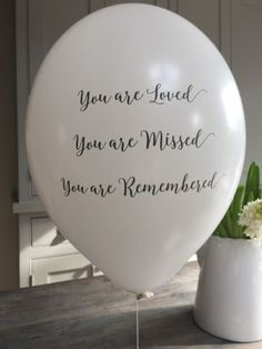 Angel & Dove Funeral-Remembrance-Balloons-for-Memorial-Wake-or-Celebration-of-Life | Available from eBay, Etsy & Amazon