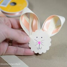 Want a charming Easter decoration you can stick to a wreath or add to your basket? These little bunny faces by Sweet Tea and Saving Grace aren't just a unique idea—they're as cute as can be.