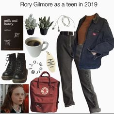 Estilo Rory Gilmore, Rory Gilmore Style, Gilmore Girls Fashion, Teen Fashion Outfits, Girl Outfits, Aesthetic Fashion, Aesthetic Clothes, Cowgirl Style Outfits, Glimore Girls
