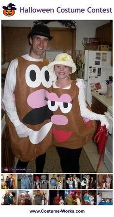 DIY Costumes for Couples - tons of homemade costume ideas!