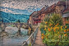 St. Ursanne is a Jurassic village on the Doubs, in the north west of Switzerland - Photo by Hanny Heim #photography #fotografie #landscape #landschaft #switzerland #schweiz