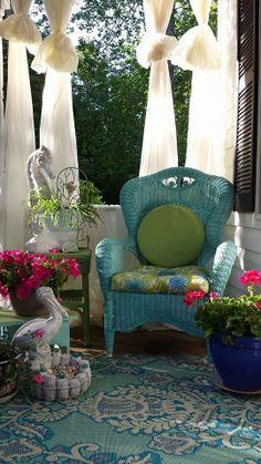 cottage porch turquoise