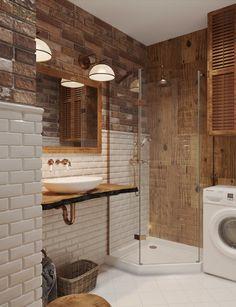 Дизайн ванной комнаты: смесь лофта и фьюжена - Дизайн интерьеров | Идеи вашего дома | Lodgers