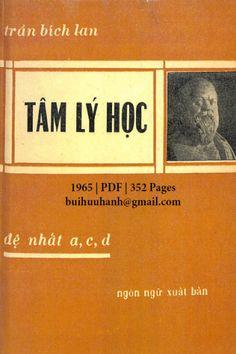 Tâm Lý Học (NXB Ngôn Ngữ 1965) - Trần Bích Lan, 352 Trang   Sách Việt Nam Movie Posters, Film Poster, Billboard, Film Posters