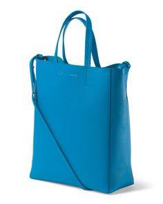 Made In Italy Leather Small Vertical Cabas Tote