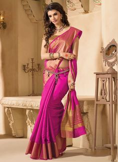 Buy online pure kanchipuram silk sarees at best in India at amazon. in. Choose from wide variety of kanchipuram designer sarees online.