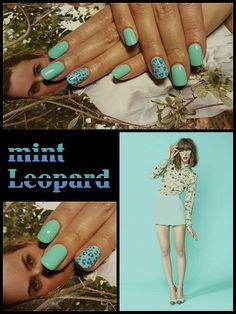 #mint #leopard #fresh #colorfull #pastels #spring #2016 #happyhands #didierlab #no53 #no44 #no29