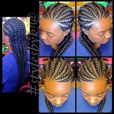 19 More Big Cornrow Styles To Feast Your Eyes On Read the article here - http://www.blackhairinformation.com/general-articles/playlists/19-more-big-cornrow-styles-to-feast-your-eyes-on/