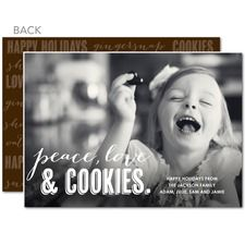 Peace Love Cookies Christmas Cards