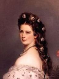 The Empress Elisabeth of Austria.  A beautiful painting of the Empress that is at Schoenbrunn Palace in Vienna.