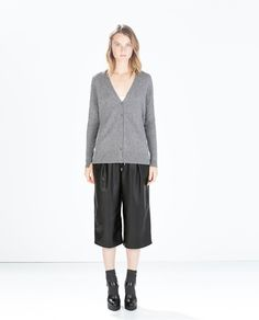 Image 1 of CASHMERE CARDIGAN WITH SIDE SLITS from Zara