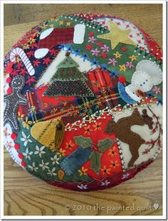 Crazy Christmas pincushion   Free project from The Painted Quilt