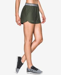 Under Armour Play Up Shorts In Downtown Green/foliage Green Running Shorts Outfit, Summer Shorts Outfits, Short Outfits, Casual Shorts, Athletic Outfits, Athletic Shorts, Athletic Clothes, Women's Leggings, Leggings Are Not Pants