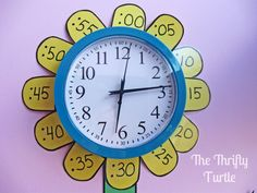 clock flower to teach time