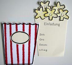 die Stempelküche - Stempeln, Scrappen, Träumen: Gaaanz großes Kino - süße Einladungen zur Kino-Party