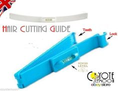 Hair Cutting Guide Layers Bang Style Scissor Clipper Comb Fringe Cut Shape .UK