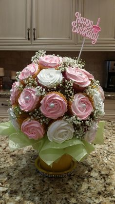 Trendy Birthday Cupcakes For Mom Mothers Cup Cakes 68 Ideas Cupcake Flower Bouquets, Flower Cupcakes, Cake Flowers, Deco Cupcake, Cupcake Cookies, Cupcakes Flores, Patisserie Fine, Birthday Cake For Mom, Birthday Cupcakes For Women
