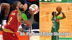 How To: Kyrie Irving Shooting Form With 33 Tips – Shotur Basketball Jump Shot Tips Basketball Shooting Drills, Basketball Quotes, Basketball Drills, Basketball Players, Basketball Funny, Girls Basketball, Kyrie Irving Shot, Basketball Accessories, Tracy Mcgrady