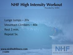 NHF High Intensity Workout - Do it from anywhere and it only takes 10 mins!