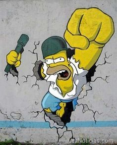 Increibles grafitis de Los Simpsons (Fotos) - http://www.leanoticias.com/2012/01/11/increibles-grafitis-de-los-simpsons-fotos/