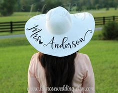 Bride Gift Mrs Beach Hat  Personalized Beach Hat Just