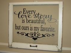 take a picture frame (window, etc.) take off the backing and put quote decal on glass