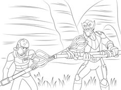 Star Wars Rebels Characters coloring page Cool printables