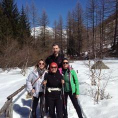 Il gruppo in passeggiata sulla neve
