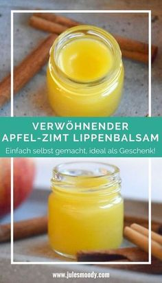 Ein herrlicher selbstgemachter Apfel-Zimt Lippenbalsam. Ideal auch als Geschenk! #diy #selbstgemacht #Lippenbalsam #naturkosmetik #GrüneKosmetik #Geschenk #Apfel #Zimt #Herbst #Winter
