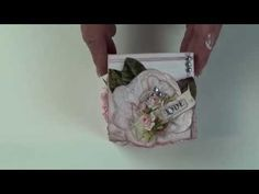 157 - Exploding box with mini album inside for Meg's Garden - YouTube