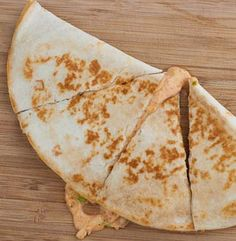 Just Like Taco Bell- Chicken Quesadillas With Cream Cheese, Sour Cream, Chile Powder, Cumin, Garlic Powder, Salt, Ground Coriander, Cayenne Pepper, Mexican Cheese Blend, Chicken Breasts, Green Chile, Rotel Tomatoes, Flour Tortillas, Cooking Spray