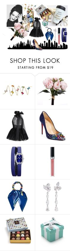 """What would Blair Waldorf do?"" by martina4pisova on Polyvore featuring Christina Debs, Elie Saab, Christian Louboutin, Harry Winston, Christian Dior, Hermès, Anyallerie, Godiva and Nude"