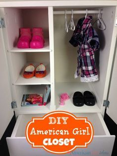 American Girl Doll Closet DIY so AWESOME