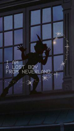 lost boy/peter pan lockscreen