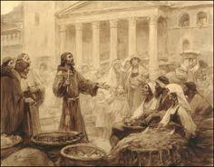 Der predigende Franziskus