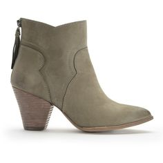 Splendid Asher Bootie featuring polyvore, women's fashion, shoes, boots, ankle booties, moss, pointed toe ankle boots, cowgirl boots, high heel boots, western booties and cowboy booties