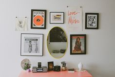 I like the little art and music stuffs   Studio Apartment Tour | Flickr - Photo Sharing!
