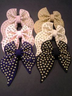 Big Girl Studded Hair Bow/ Teen Girl Bows/ Bows for Older Girls/ Bows for teens