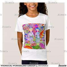 WHIMSICAL WONDERLAND GARDEN T-Shirt Organic Baby, Organic Cotton, Consumer Products, American Apparel, Boy Or Girl, Size Chart, Whimsical, Wonderland, Kids Fashion