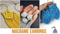 Macrame Colar, Micro Macrame, Macrame Jewelry, Fabric Jewelry, Macrame Knots, Macrame Bag, Diy Jewelry, Macrame Earrings Tutorial, Macrame Tutorial