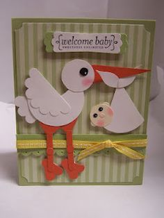 Bonnie's Creative Place: Stork and Baby Punch Art Tutorial