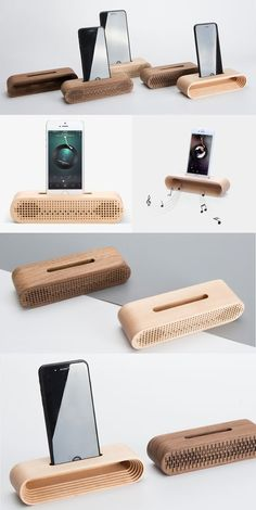 A Black Walnut Wooden wooden iPhone Phone SmarPhone Sound amplifier Cell Phone C. - A Black Walnut Wooden wooden iPhone Phone SmarPhone Sound amplifier Cell Phone Charging Station Doc -