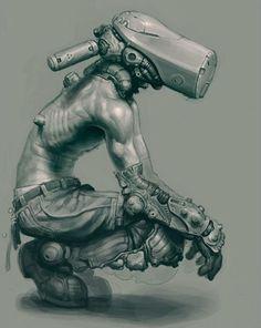 S. J. BASS Steampunk, Comic Manga, Post Apocalíptico, Creature Design, Pencil Drawings, Tumblr, Design Reference, Cyberpunk Art, Cyberpunk Character