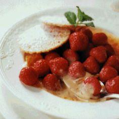 """VANILLA CUSTARD WITH STRAWBERRIES -VANILLA CUSTARD WITH STRAWBERRIES """"click pic for recipe"""""""