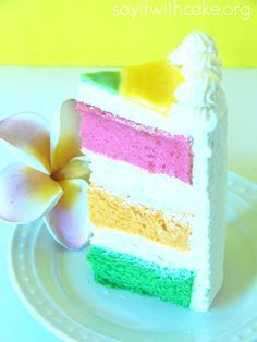 Hawaiian Paradise Cake Yummy Hawaiian Paradise layer cake with layers of guava, passion fruit, and lime chiffon cake filled with whip cream cream cheese frosting Cake Recipes, Dessert Recipes, Baking Recipes, Cupcake Cakes, Cupcakes, Chiffon Cake, Cream Cheese Frosting, Let Them Eat Cake, Vanilla Cake