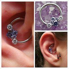 Piercing Daith Bijou 66 New Ideas Daith Piercing Jewelry, Daith Earrings, Amethyst Earrings, Bar Earrings, Ear Piercings, Face Peircings, Diath Piercing, Ear Jewelry, Body Jewelry