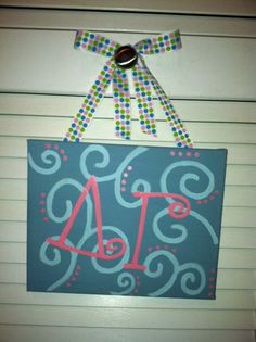 Delta Gamma Canvas painting I want to recreate!