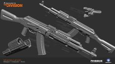 The Division Weapons - [Made in Z-Brush]