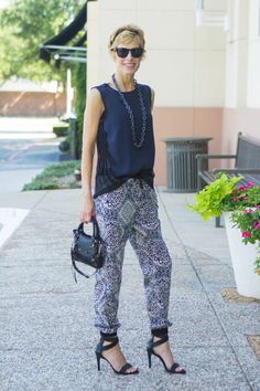 """""""CHIC AT EVERY AGE"""" PRINT TRACK PANTS Harem Pants, Track, Pairs, Age, Chic, Fashion, Shabby Chic, Moda, Harem Trousers"""