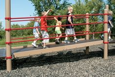 """Ramp - Flush Mounted TenderTuff Coated Plank - 42"""" Wide Ramp with 8"""" Incline - Landscape Structures"""